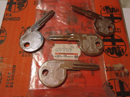 "ALFA ROMEO SPIDER BLANK #6 DOOR KEY 64-95 /""NOS/"""