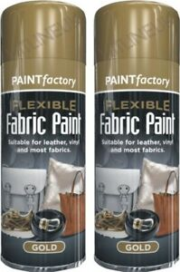 Details About 2 X 200ml Flexible Gold Fabric Spray Paint Leather Art Vinyl Crafts Hlu