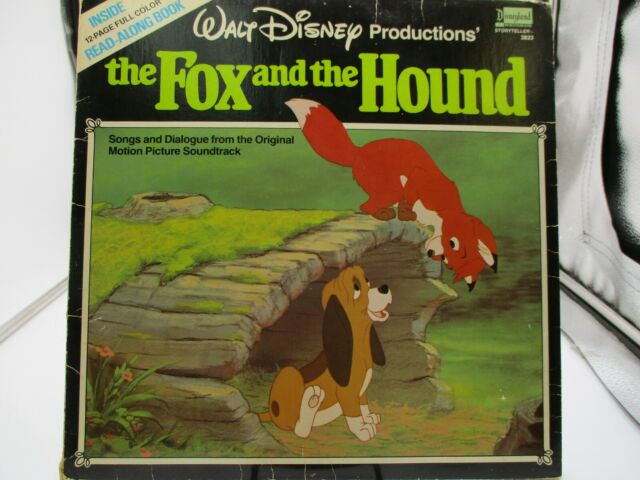 The Fox and the Hound Disneyland 3823 LP With Attached Book VG+ c VG
