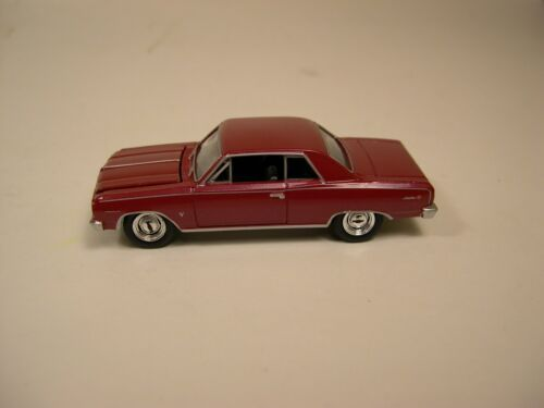 GREENLIGHT 1:64 SCALE DIECAST METAL BURGUNDY RED 1964 CHEVROLET CHEVELLE SS