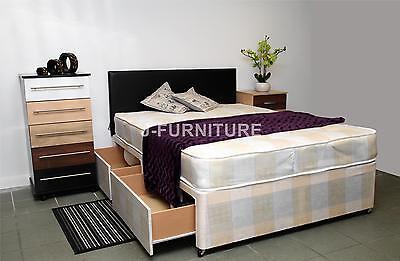 Double Divan Bed.Any Mattress.Storage.Headboard. 100% CHEAPEST ON EBAY!