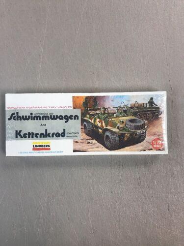 LINDBERG 1//72 SCALE 6084 GERMAN WWII SCHWIMMWAGEN /& KETTENKRAD
