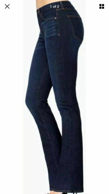 Spanx Rich Indigo Rinse The Slim-X Bootcut Jeans Size 25 Orig $148