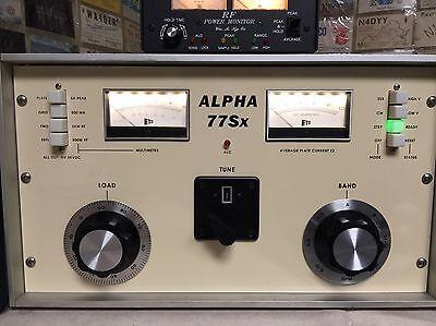 Alpha 76A ETO Amplifier Reproduction Front Panel Ham Radio