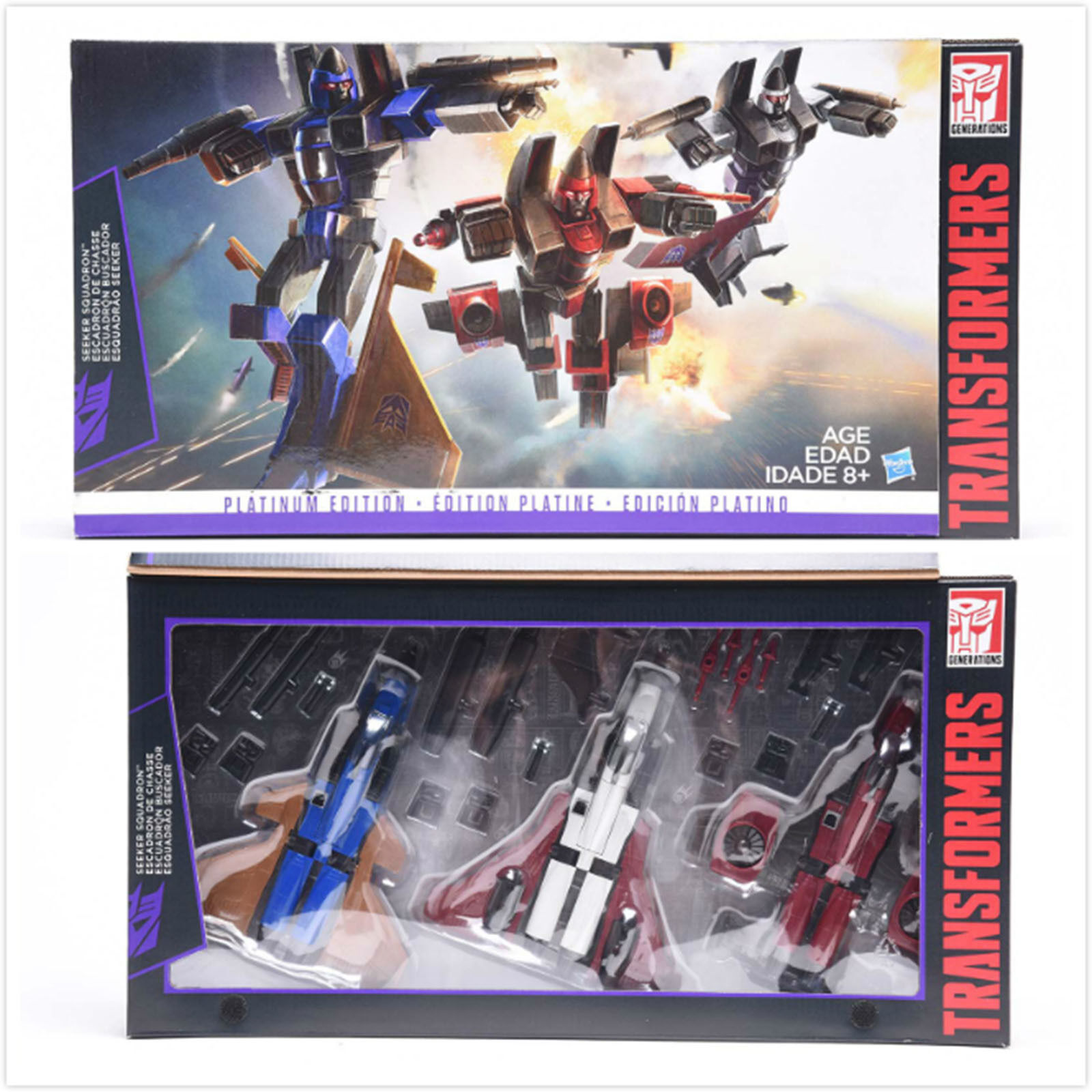 Natale Transformers G1 Platinum Edition SEEKER SQUADRON Digre Thrust Ramjet Gift
