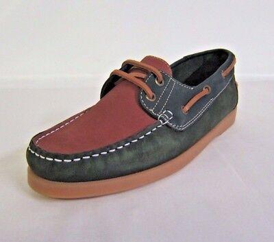 ep-34 Herren Giseppe Poloni Works grün / Rost Boot Schuhe- TOLLER PREIS