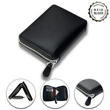 Lackingone RFID Blocking Anti Scan ID Credit Card Holder Leather Wallet Men's
