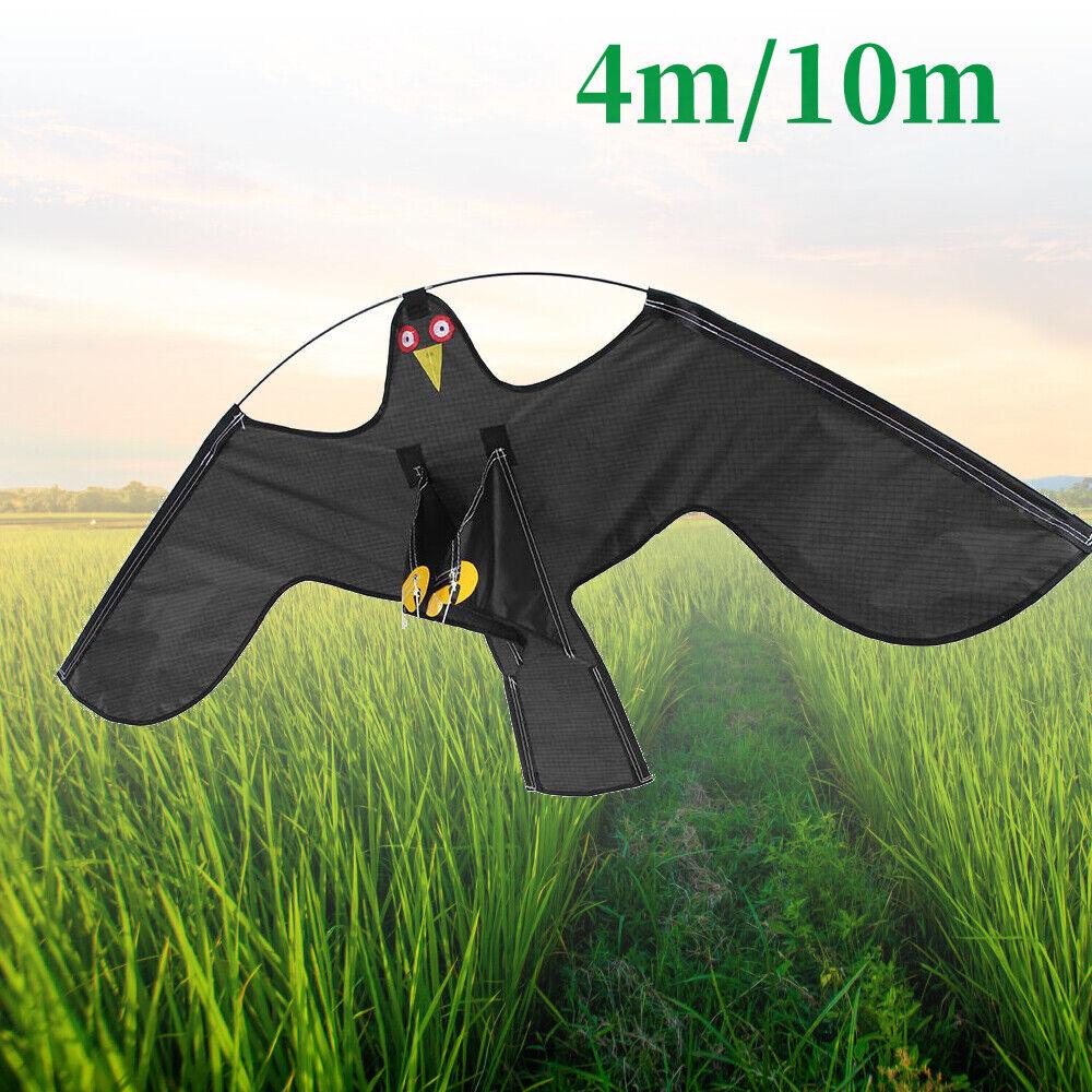 4 10m Hawk cometa realista Volando Pájaro Paloma Señuelo Repelente de jardín de control de plagas