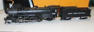 VINTAGE-K-LINE-TRAINS-3670-1838CC-NEW-YORK-CENTRAL-MIKADO-STEAM-LOCO-0-GAUGE