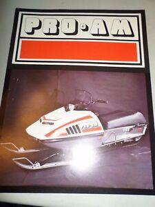 1970's Original Pro Am by Auto Ski  Full line  Snowmobile Brochure