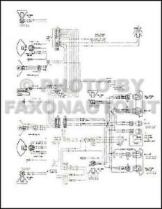 Details about 1978 Chevy El Camino GMC Caballero Wiring Diagram Chevrolet on