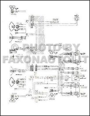 1978 Chevy El Camino Gmc Caballero Wiring Diagram Chevrolet Electrical Schematic Ebay