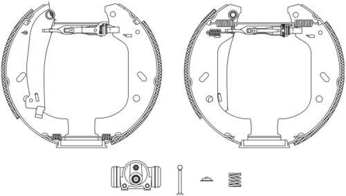 Mintex Frein Arrière Chaussures Set MSP118-Brand new-genuine-Garantie 5 an
