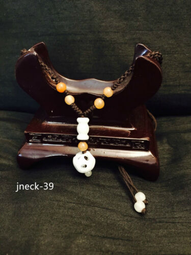 Details about  /New Handmade Ladies Oriental Chinese Cute Lucky Vase Jade Adjustable Necklace