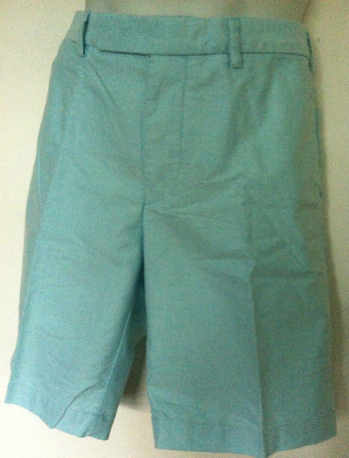 Polo Ralph Lauren Light Aqua bluee Oxford Shorts Flat Front Size 34 NWT