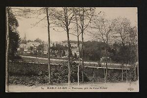 Tarjeta-Postal-Antigua-Marly-Vista-Desde-Del-Coeur-Volant