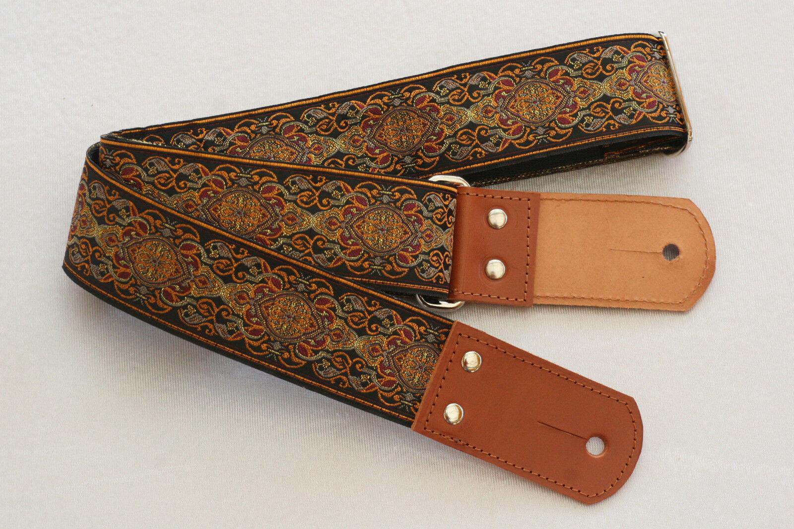 Cinturón guitarras guitarras guitarras pardo Guitar Royal Lacy Strap cuero hecho a mano hippie b070de  producto de calidad