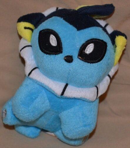 """6/"""" Vaporeon # 134 Plush Dolls Toys Stuffed Animals Water 2010 Pokemon Center"""
