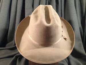 Stetson 3X Open Road Beige Fedora Men s Hat Stetson Pin Cattleman ... ac6455e1242