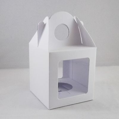 10 x Single Cupcake / Muffin / Fairy Cake Boxes With 2 Windows, Choose Colour