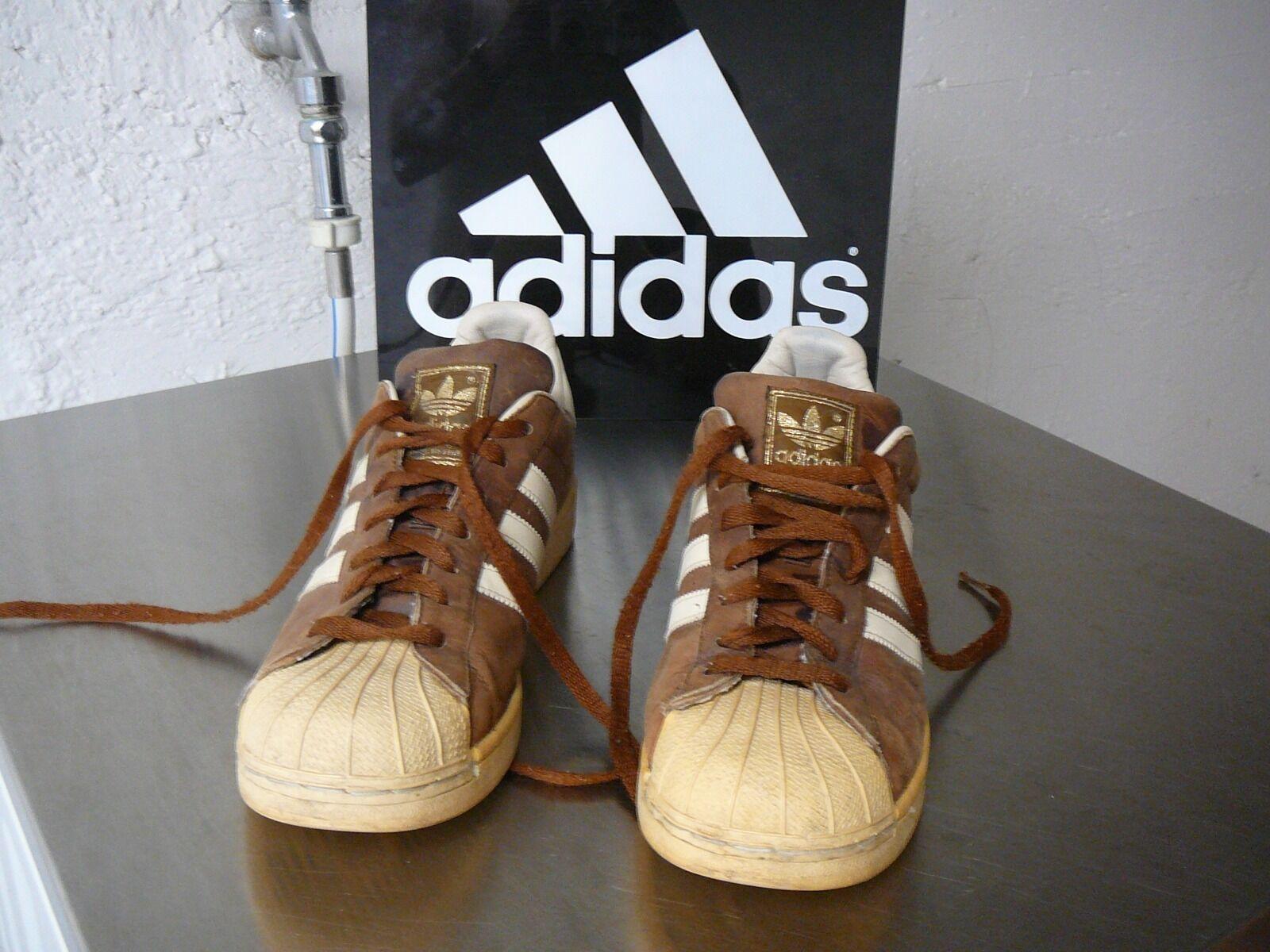 Adidas Vintage Superstar II Waxed  UK 10.5  Very RAR Heißer verkauf