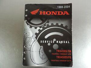 DOWNLOAD HONDA TRX450 SERVICE MANUAL - Honda Repair Manuals