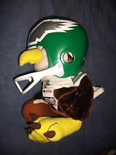 NEW VINTAGE LARGE HUDDLES PHILADELPHIA EAGLES MASCOT W/REAL FOOTBALL HELMET 17""