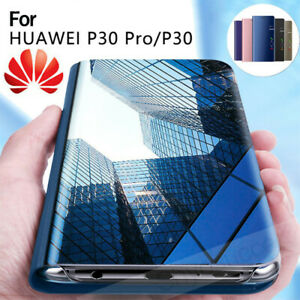 Pour-Huawei-P30-Lite-P30-Pro-P30-Smart-View-Mirror-Leather-Flip-Stand-Case-Cover