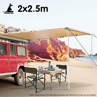 Wallaroo 2m x 2.5m Car Side Awning Roof Top Tent - Sand | eBay