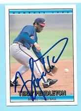 1992 Donruss #237 Terry Pendleton Autograph Atlanta Braves