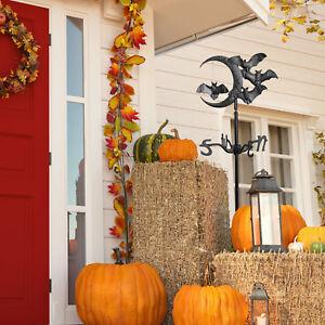 Halloween-Bat-Garden-Weathervane-Black