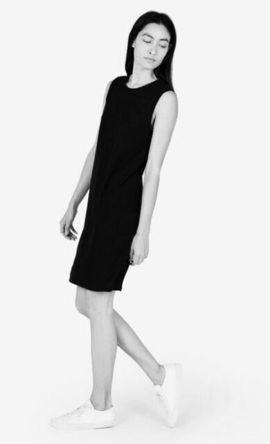 NWOT Everlane The Lux Muscle Dress Black Size XXS HTF