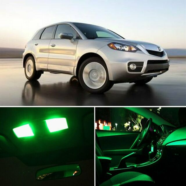 15x Bright Green Car Interior LED Light Package Kit For