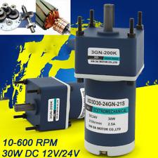 10 600rpm Gear Motor Low Speed High Torque 30w Dc 12v24v Gearbox Motor 3d30gn C