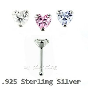 1pc-22g-3mm-Heart-C-Z-Prong-Set-Nose-Bone-925-Sterling-Silver-Nose-Stud