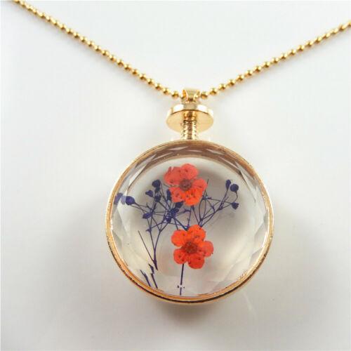 1X Mixed-Color Sea Star Fleur Verre Collier Pendentif 29 cm Chaîne Bijoux Cadeaux