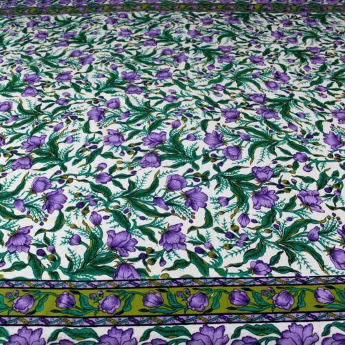 Handmade 100/% Cotton Floral Print Tapestry Tablecloth Coverlet Bedspread Full