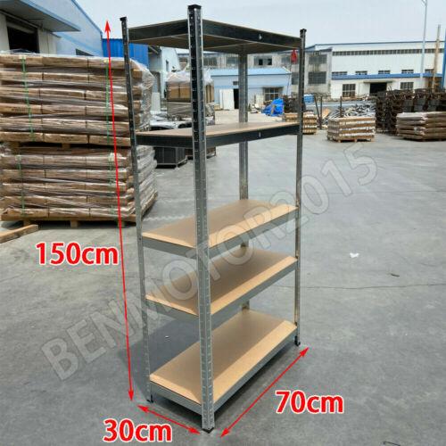 Heavy Duty 5 Tier Garage Shelves Shelving Unit Racking Warehouse Storage Shelf