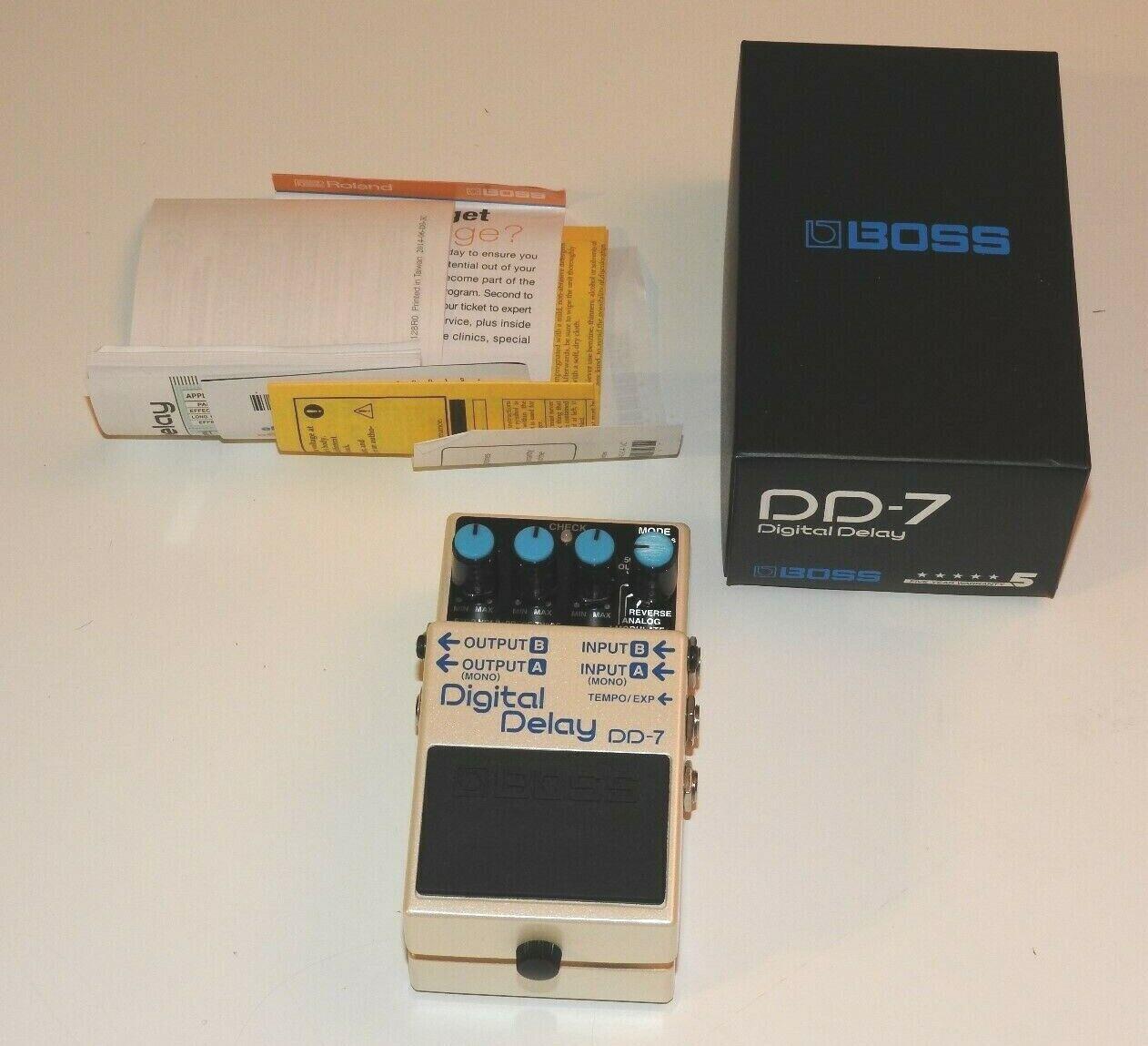 NEW  BOSS DD-7 DIGITAL DELAY EFFECTS PEDAL STEREO ELECTRIC GUITAR DD7