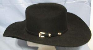 774f18d8ea6 Bullhide Justin Moore Collection 6X Wool Felt Cowboy Hat Black BACK ...