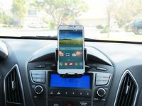 Car Cd Slot Mount One-touch Cradle Cellphone Holder For Samsung Galaxy Note 5 4