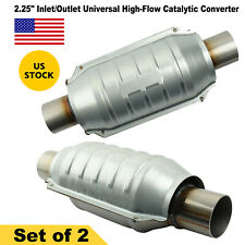 2pcs 225 Universal High Flow Performance Stainless Catalytic Converter 53005