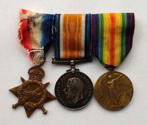 WW1-Medal-Group-Trio-BWM-Victory-Medal-amp-1914-15-Star-Army-Cyclist-Corps