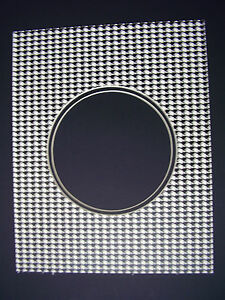 Picture Frame Mat For 45 Record Houndstooth Check 11x14