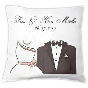Details Zu Kissen Braut Brautigam Mit Personalisierung Geschenk Hochzeit Hochzeitstag