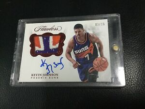 2017-18-Panini-FLAWLESS-KEVIN-JOHNSON-RUBY-RED-PATCH-AUTO-3-15-Autograph-Suns-SP
