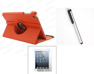 ORANGE-iPad-Mini-2-3-Case-360-Rotating-SMART-PU-Leather-Cover-Case-Protector