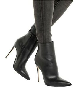 Sexy-Womens-Punk-Ankle-Boots-Stilettos-High-Heels-Pointy-Toe-Party-Leather-Shoes
