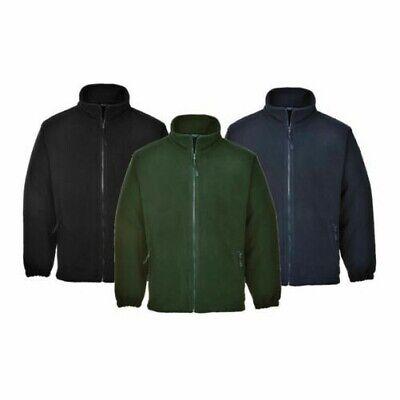 Portwest anti-pil argyll premium heavy veste polaire fermeture éclair poches sz xs 5XL...