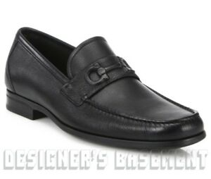Double Gancini bit loafers - Black Salvatore Ferragamo